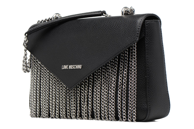 Sacs à main Love Moschino Porté épaule Metal Chains Noir vue portées chaussures