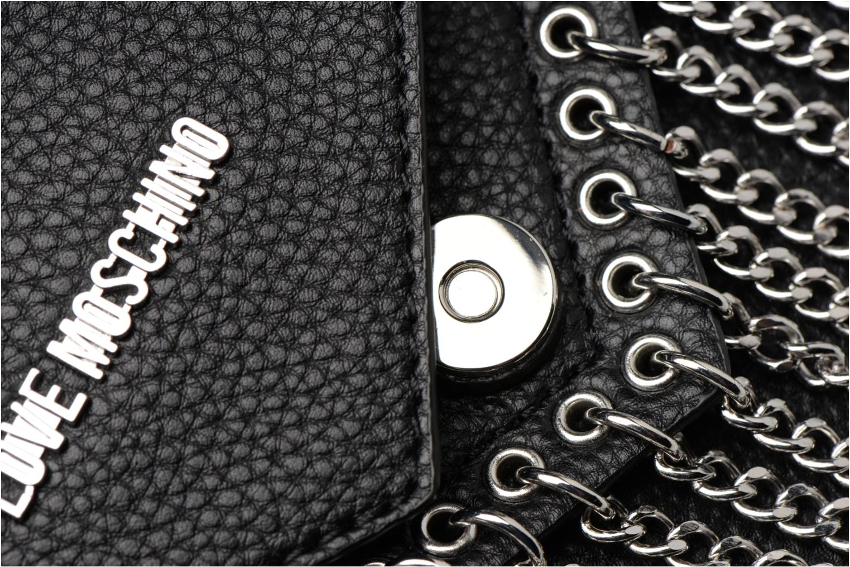 Sacs à main Love Moschino Porté épaule Metal Chains Noir vue gauche