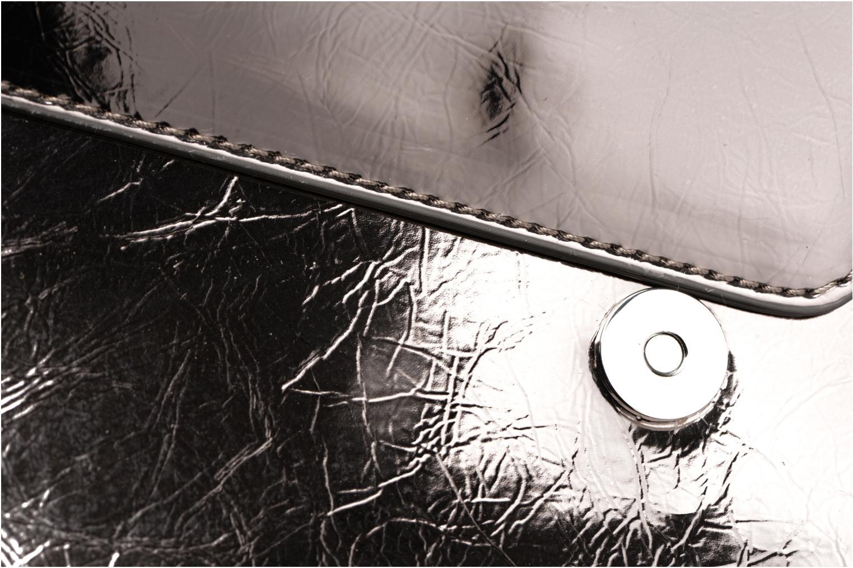 Bolsos de mano Love Moschino Porté épaule Metalic Embossed and Hearts Oro y bronce vista lateral izquierda