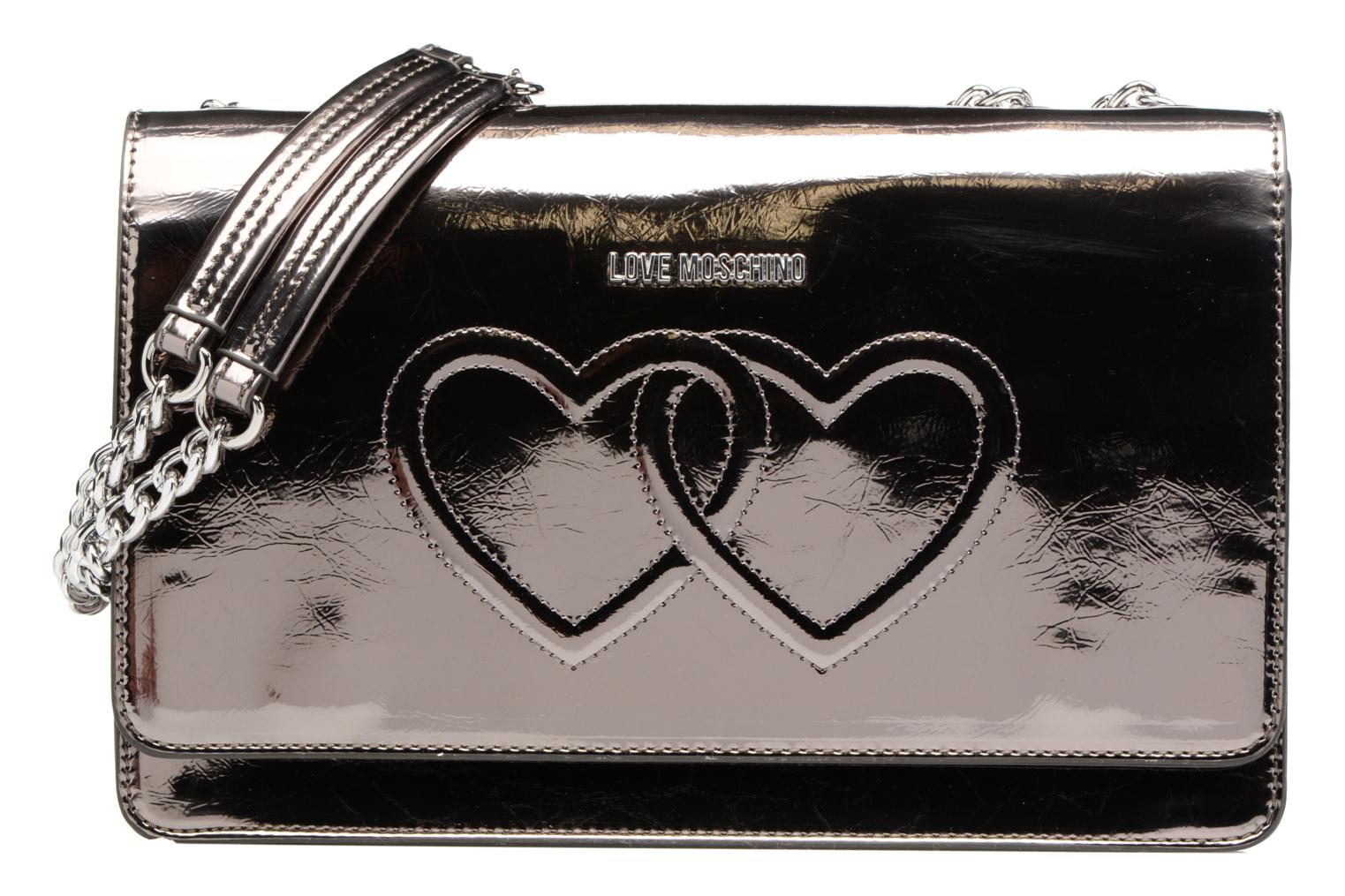 Handbags Love Moschino Porté épaule Metalic Embossed and Hearts Bronze and Gold detailed view/ Pair view