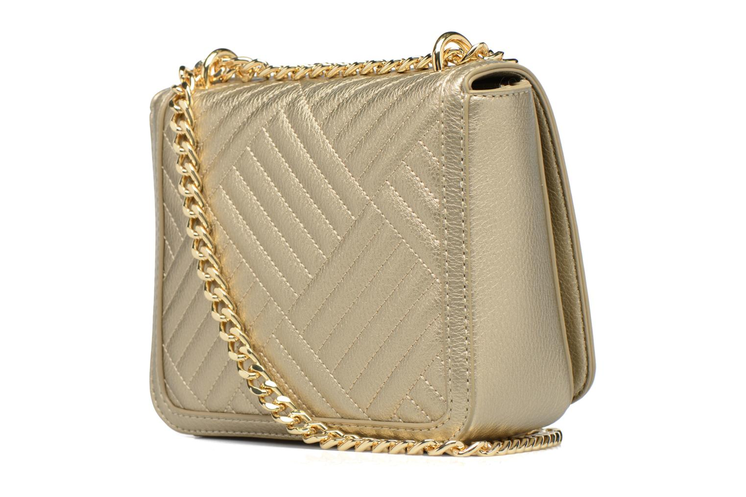 Sacs à main Love Moschino Crossbody Chaine Shiny Quilted Or et bronze vue droite