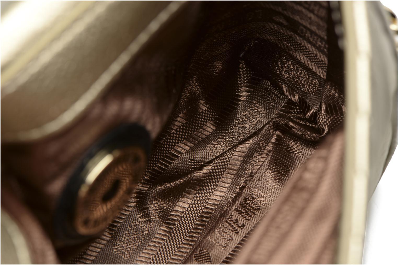 Handtassen Love Moschino Crossbody Chaine Shiny Quilted Goud en brons achterkant