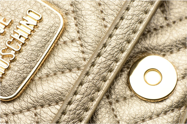 Handtaschen Love Moschino Crossbody Chaine Shiny Quilted gold/bronze ansicht von links
