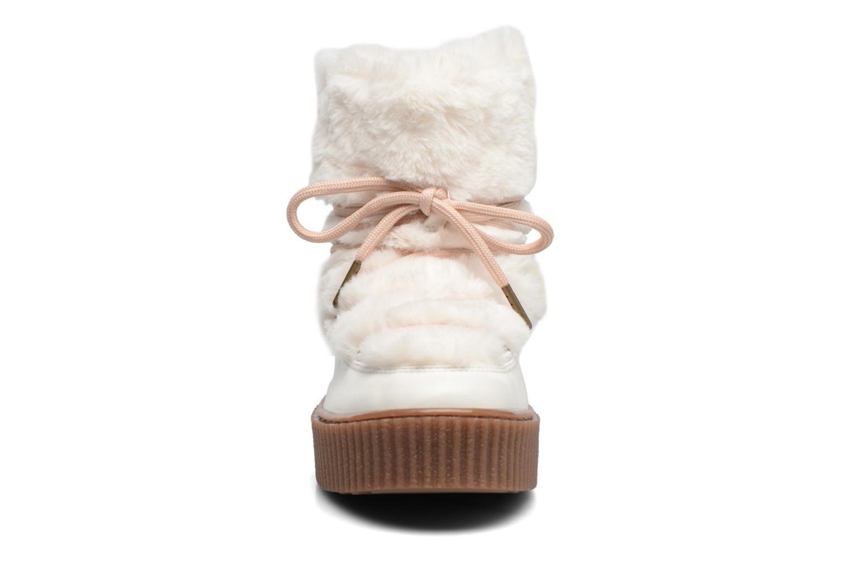 Bottes Gioseppo Doulla Blanc vue portées chaussures