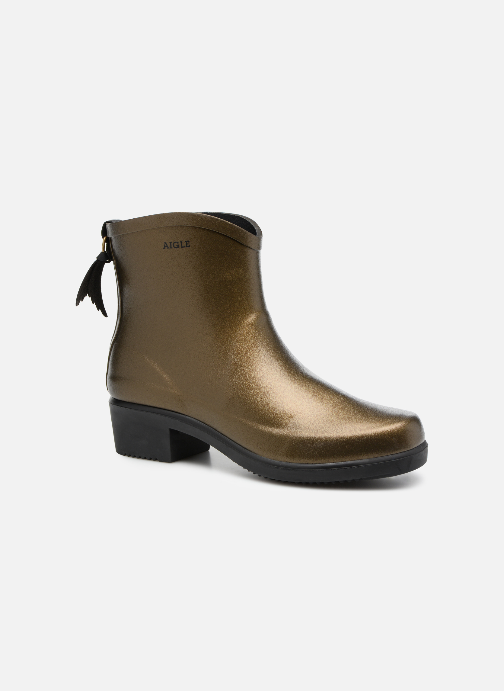 Bottines et boots Aigle Miss Juliette Botillon Or et bronze vue détail/paire