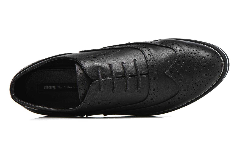 Chaussures à lacets MTNG Muestra Noir vue gauche