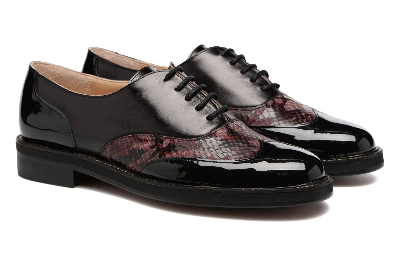 Chaussures à lacets MAURICE manufacture Jill Bordeaux vue 3/4