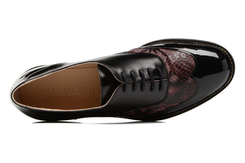 Chaussures à lacets MAURICE manufacture Jill Bordeaux vue gauche