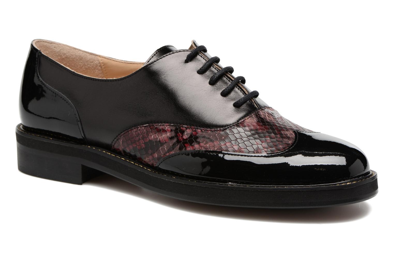 Chaussures à lacets MAURICE manufacture Jill Bordeaux vue détail/paire
