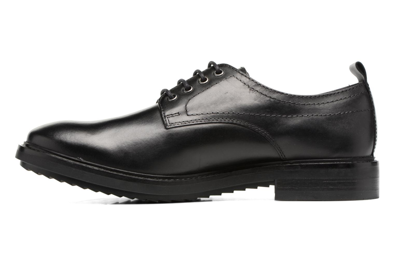 Chaussures à lacets Base London Elba Noir vue face