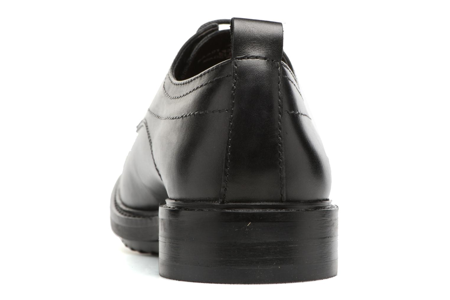 Zapatos con cordones Base London Elba Negro vista lateral derecha