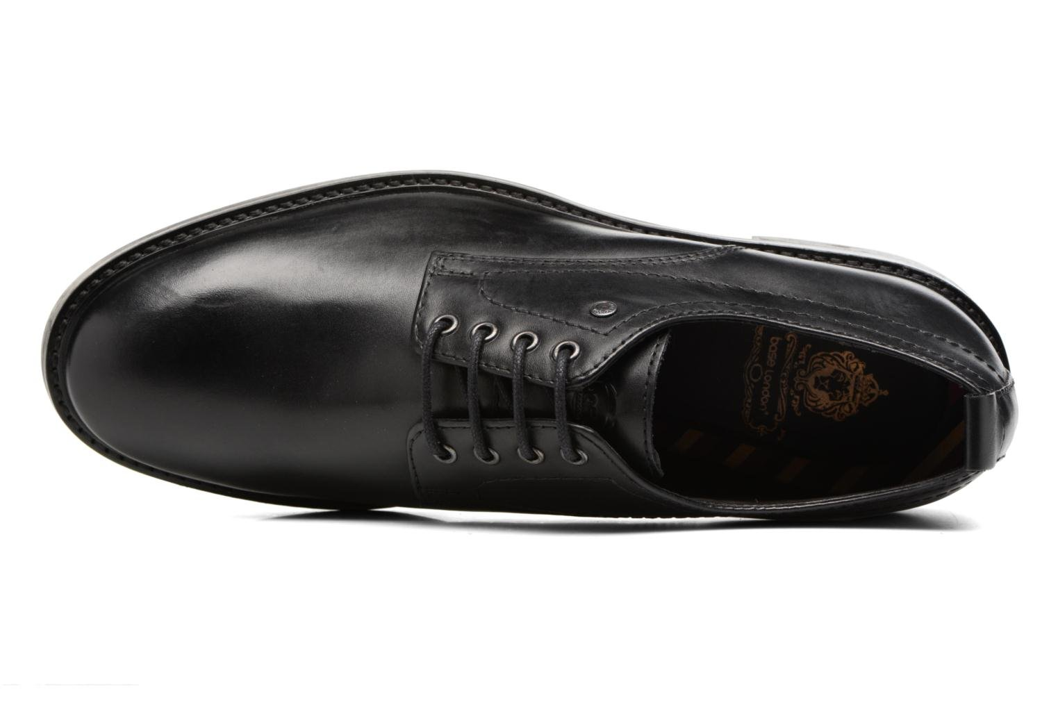 Lace-up shoes Base London Elba Black view from the left