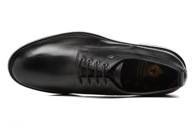 Zapatos con cordones Base London Elba Negro vista lateral izquierda