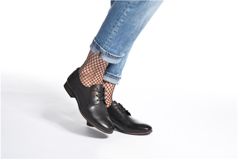 Chaussures à lacets Kickers GAZELLAN Noir vue bas / vue portée sac