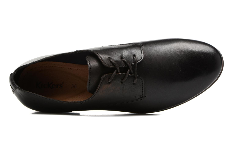 Chaussures à lacets Kickers GAZELLAN Noir vue gauche