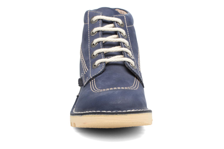 Bottines et boots Kickers NEORALLYE  Bleu vue portées chaussures