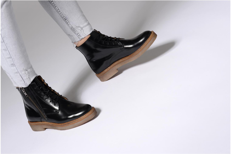 Bottines et boots Kickers OXFOTO Bordeaux vue bas / vue portée sac