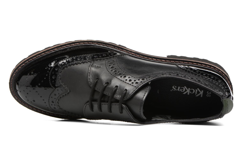 Chaussures à lacets Kickers RONY Noir vue gauche