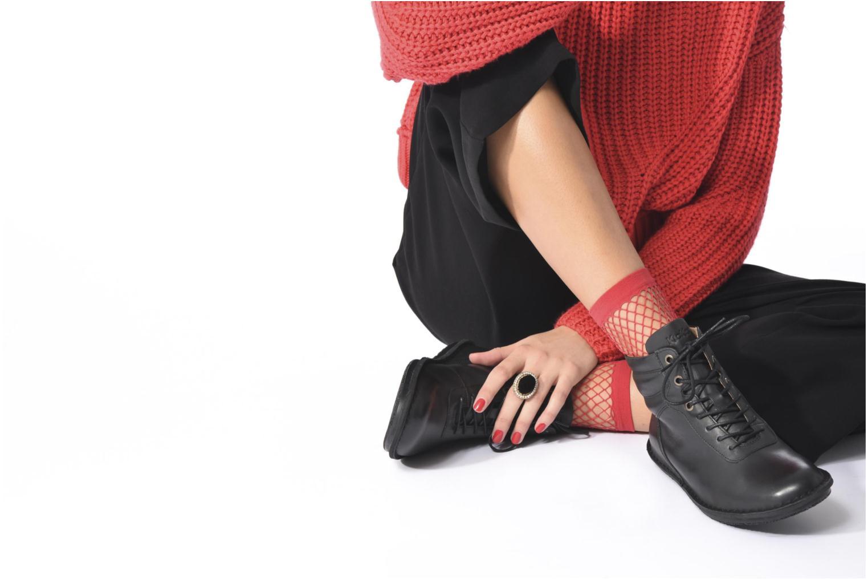 Bottines et boots Kickers WABUCK Noir vue bas / vue portée sac