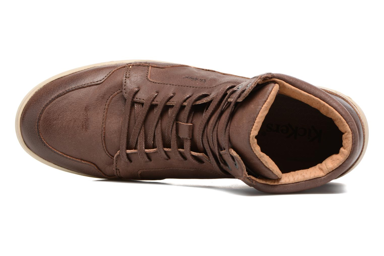 Sneakers Kickers CROSSOVER Marrone immagine sinistra
