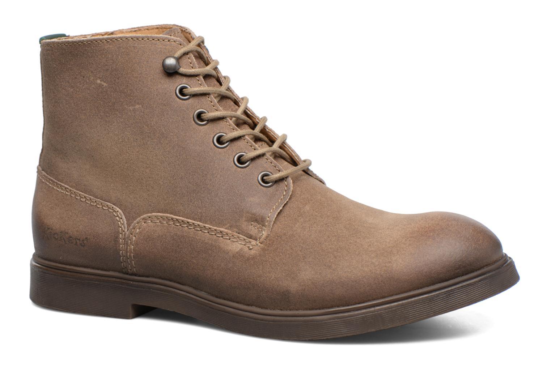 Bottines et boots Kickers HARLEMUS Beige vue détail/paire