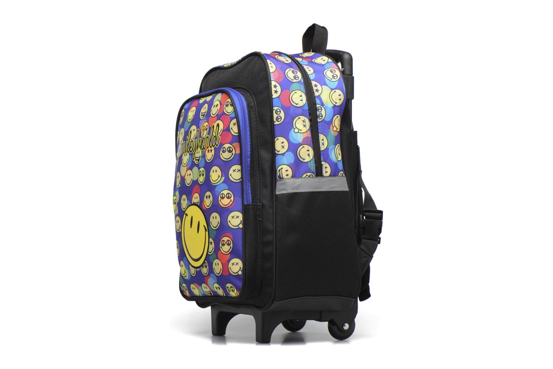 Per la scuola Smiley Backpack Trolley 40cm Multicolore modello indossato
