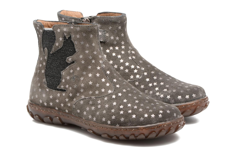 Bottines et boots Pom d Api Cute Squirrel Gris vue 3/4