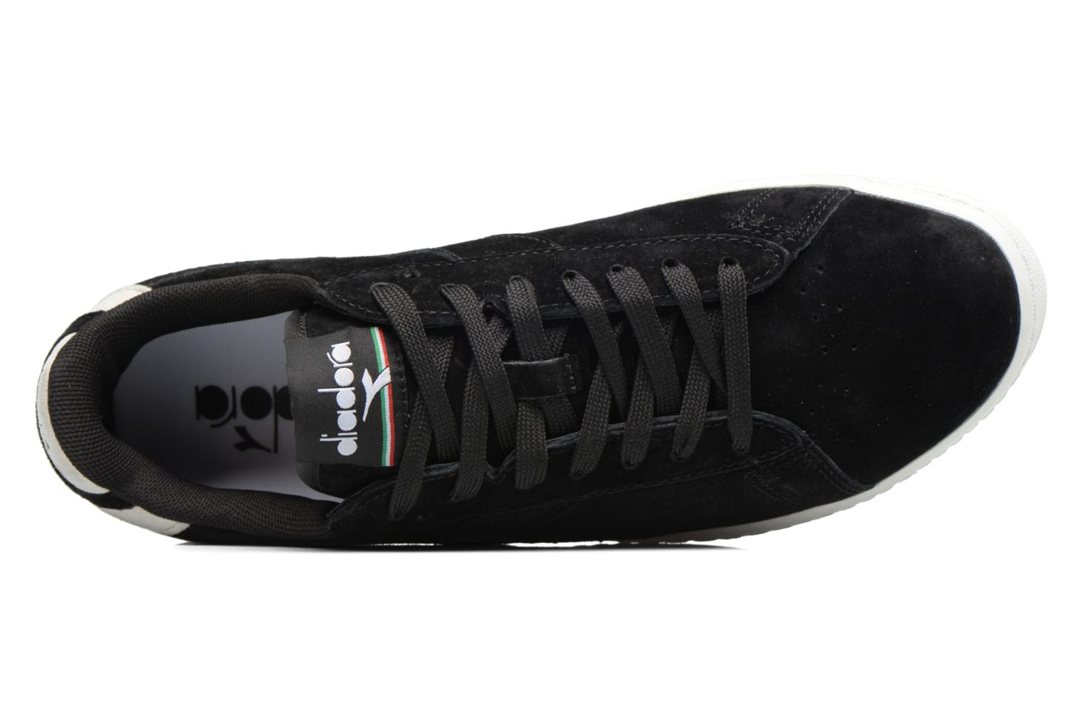 Trainers Diadora GAME LOW S Black view from the left