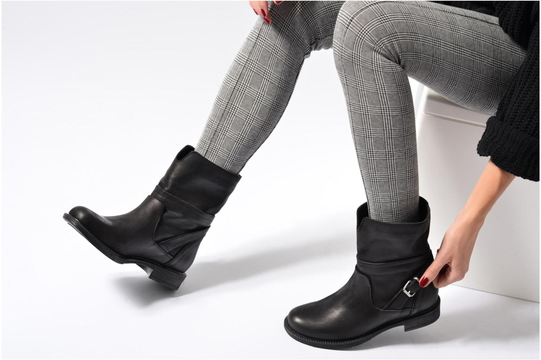 Bottines et boots Georgia Rose Mamour Noir vue bas / vue portée sac