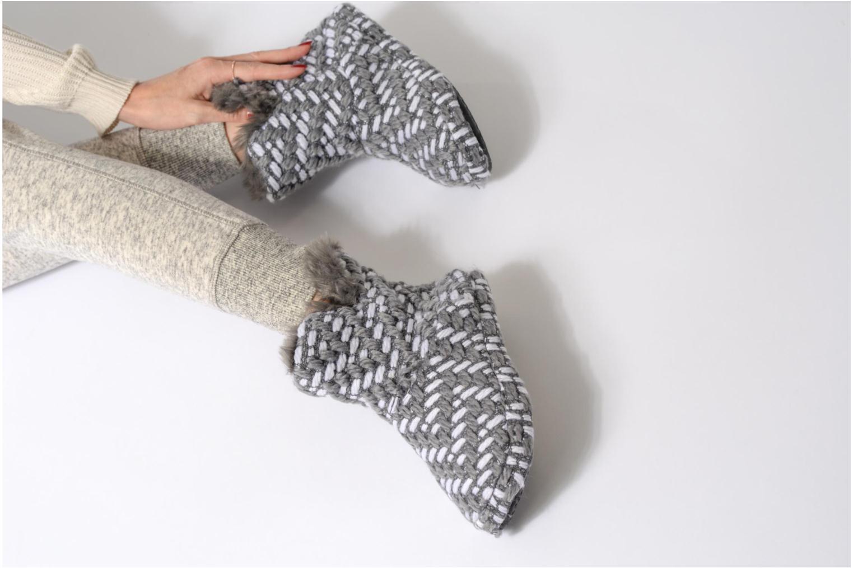 Hausschuhe Esprit KNITTY BOOTIE grau ansicht von unten / tasche getragen