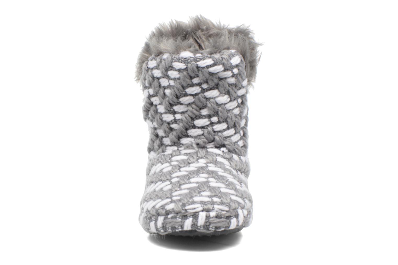 Hausschuhe Esprit KNITTY BOOTIE grau schuhe getragen