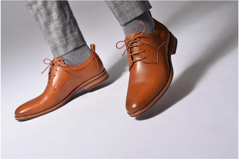 Chaussures à lacets Mr SARENZA Scano Bleu vue bas / vue portée sac