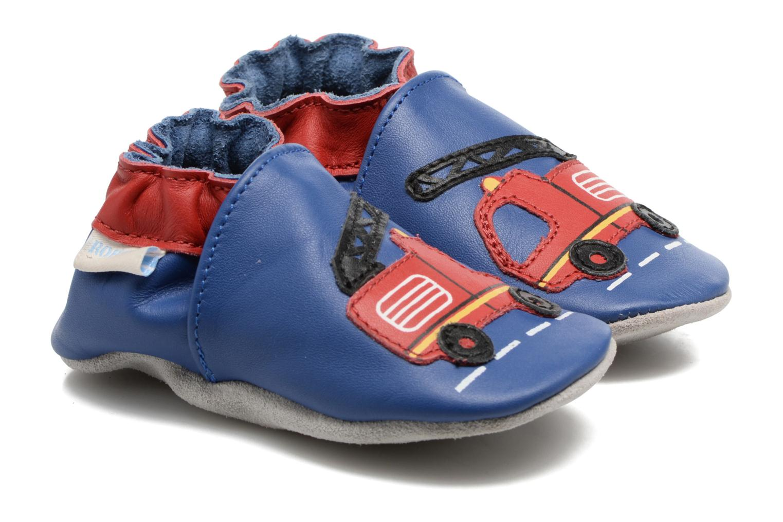 Chaussons Robeez Firetruck Bleu vue détail/paire