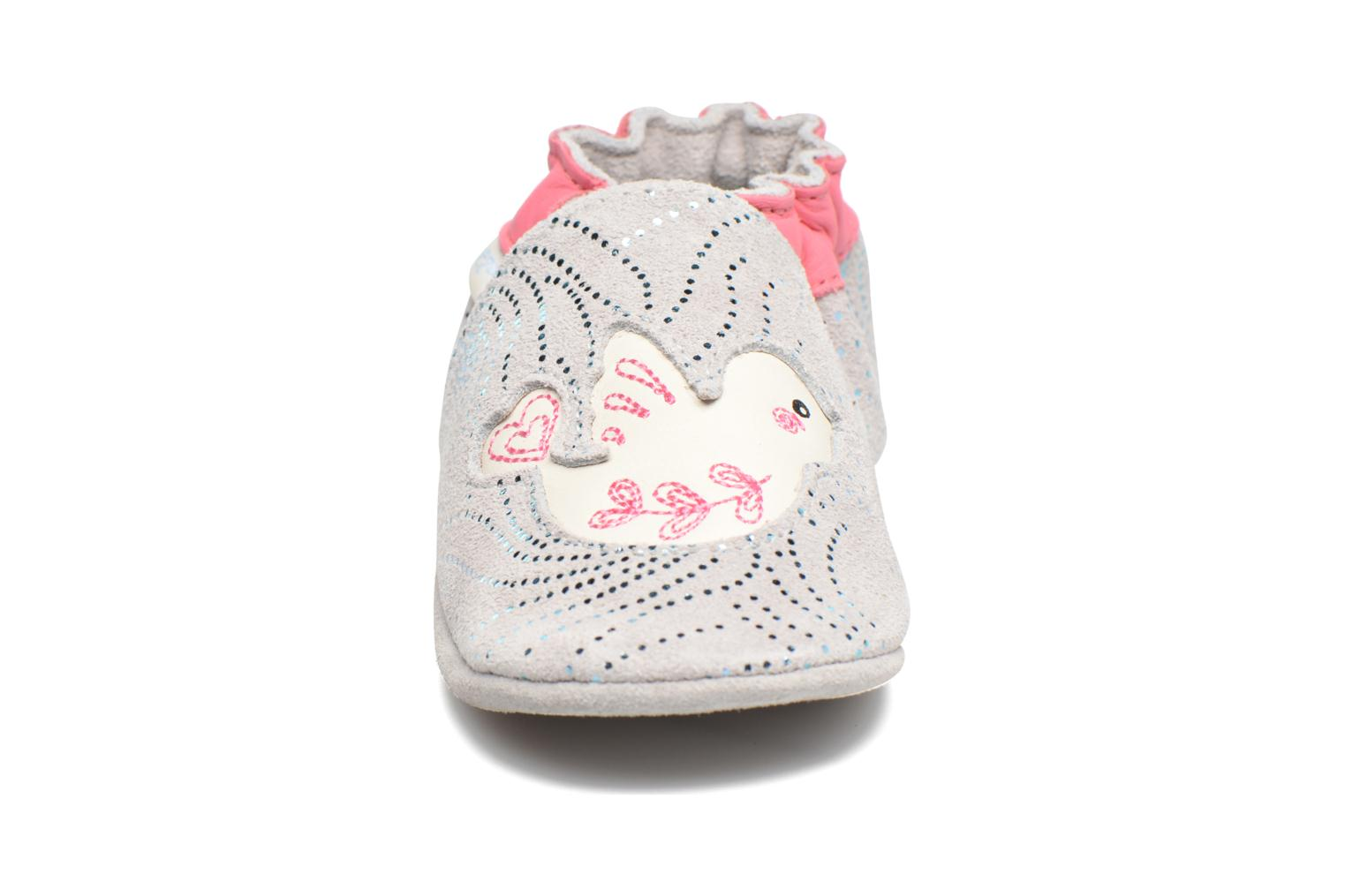 Chaussons Robeez Lovely Birds Gris vue portées chaussures