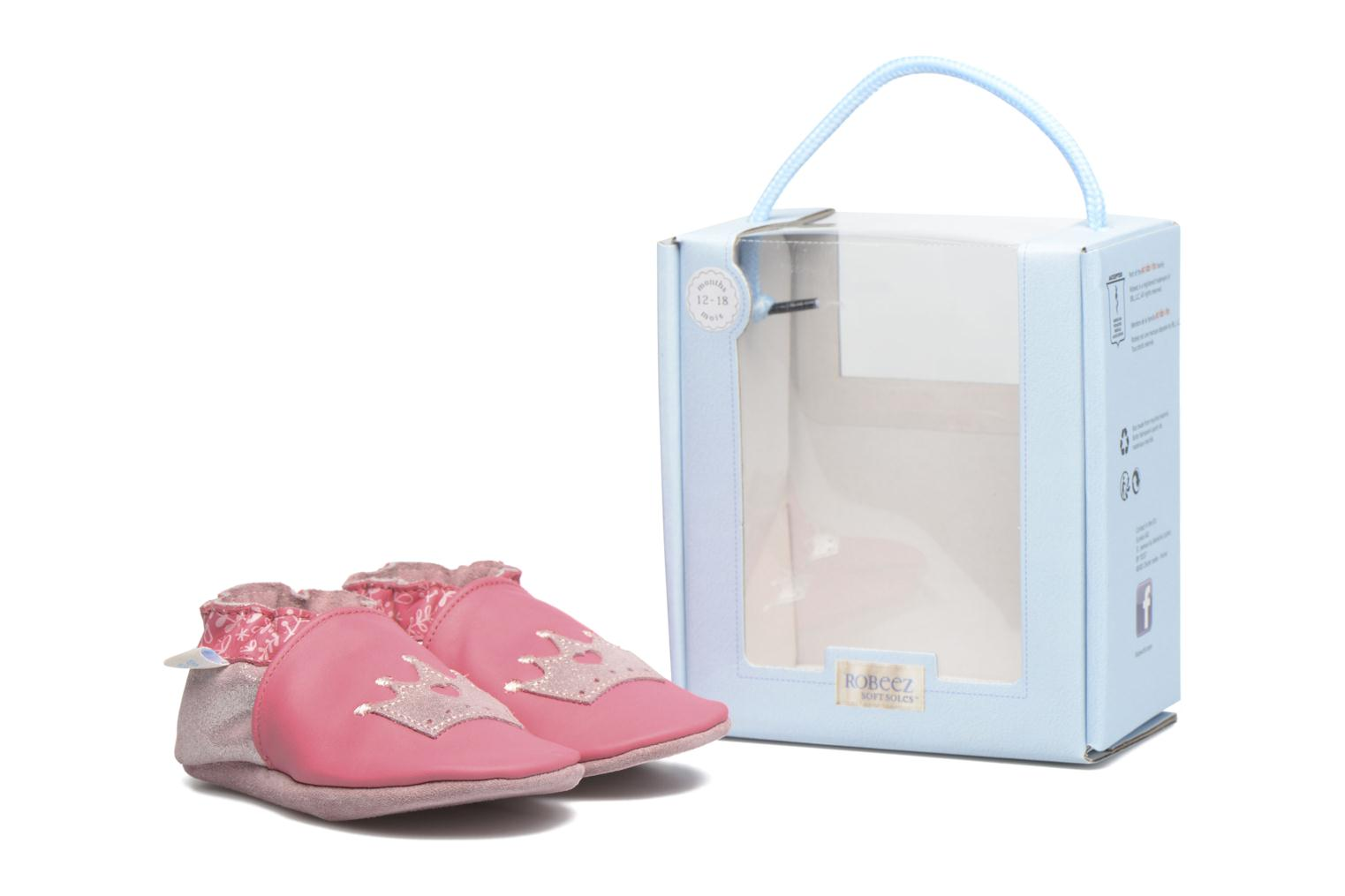 Chaussons Robeez Princess Story Rose vue 3/4