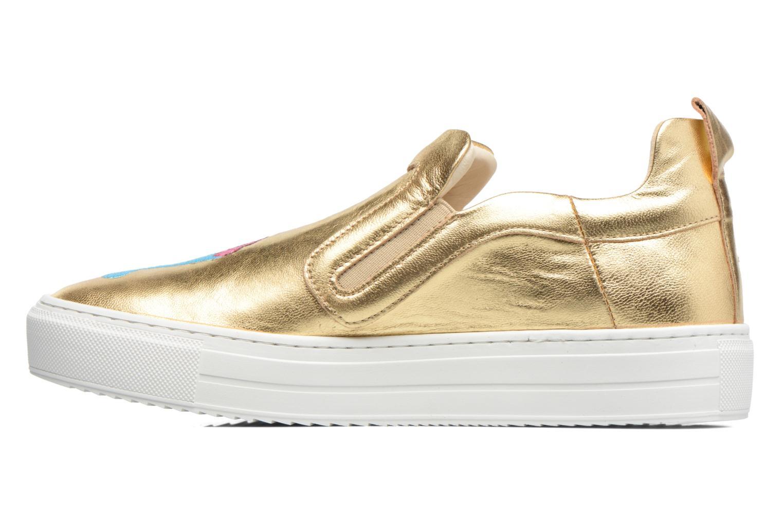 Sneakers Apologie Ice Cream Oro e bronzo immagine frontale