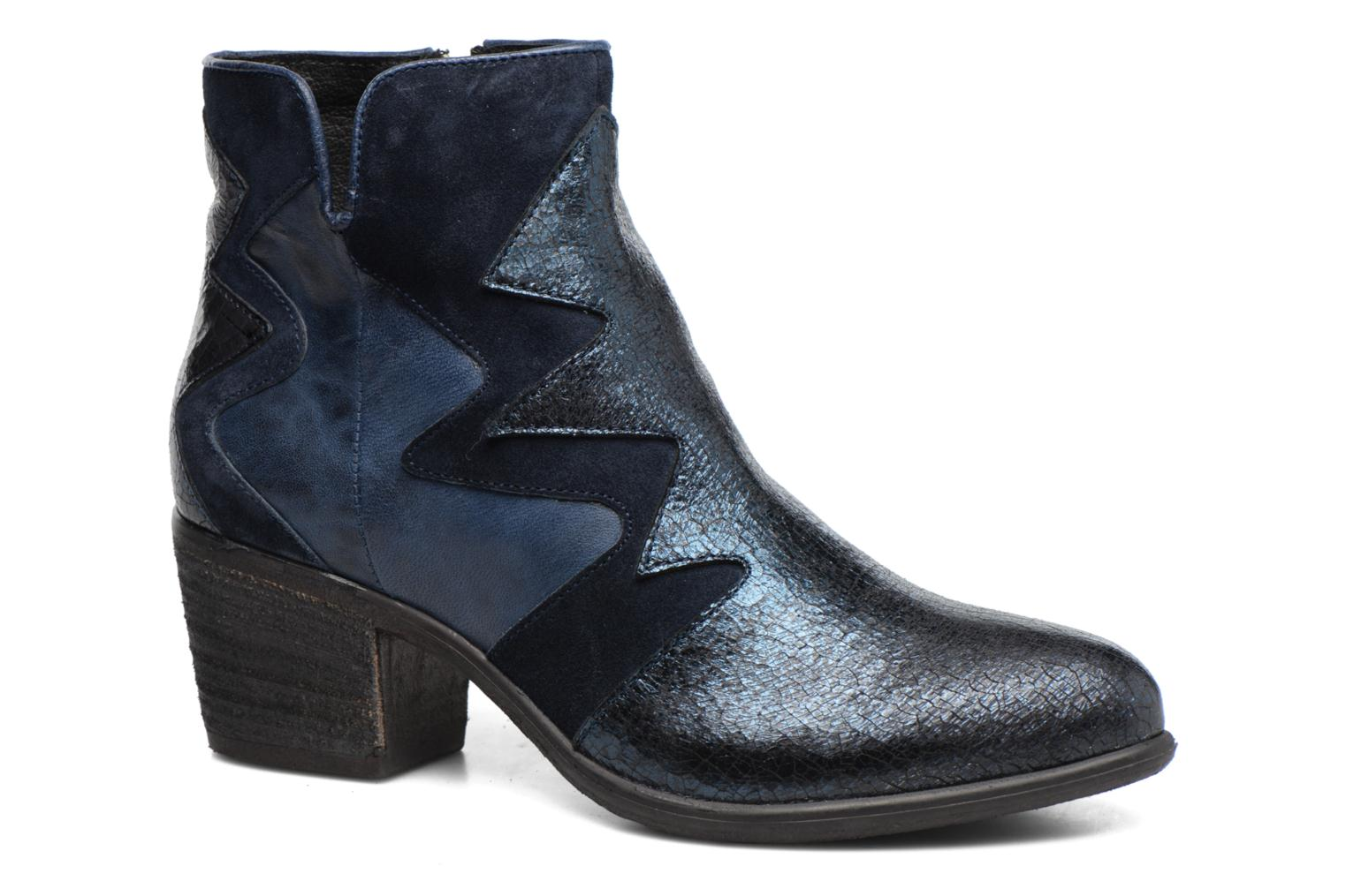 Ankle boots Khrio Sheltarie Blue detailed view/ Pair view
