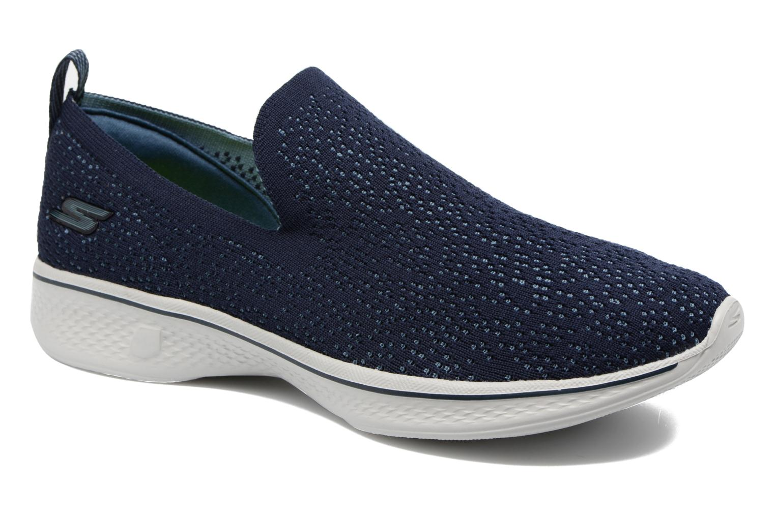 Sport shoes Skechers Go walk 4 gifted Blue detailed view/ Pair view