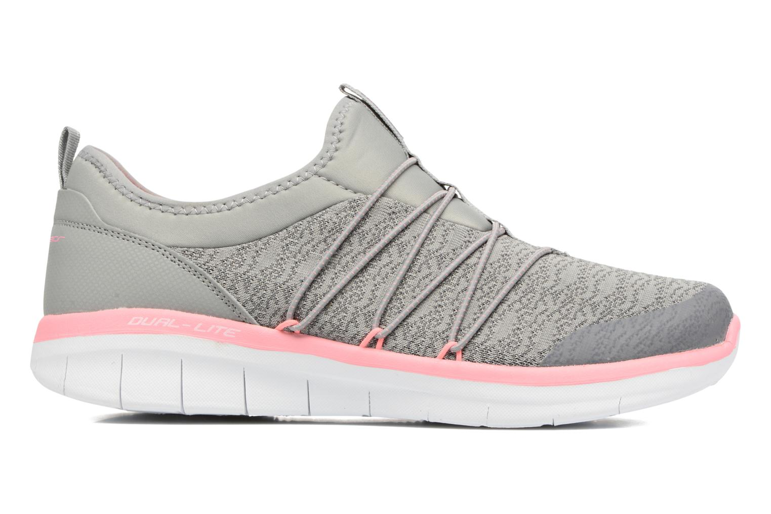 Sport shoes Skechers Synergy 2.0 Simply Chic Grey back view