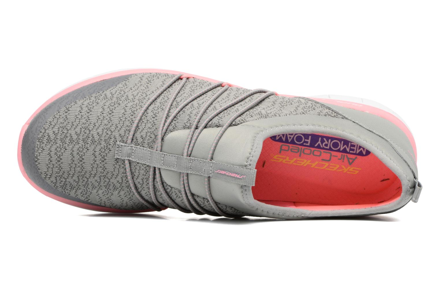 Sport shoes Skechers Synergy 2.0 Simply Chic Grey view from the left