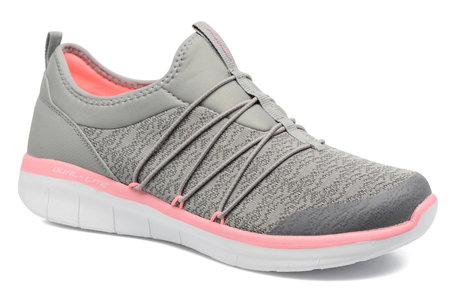 Sport shoes Skechers Synergy 2.0 Simply Chic Grey detailed view/ Pair view