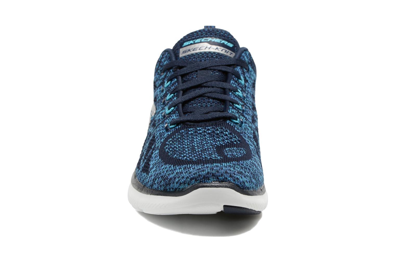 Scarpe sportive Skechers Flex Appeal 2.0 New Gem Azzurro modello indossato