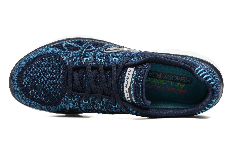 Zapatillas de deporte Skechers Flex Appeal 2.0 New Gem Azul vista lateral izquierda