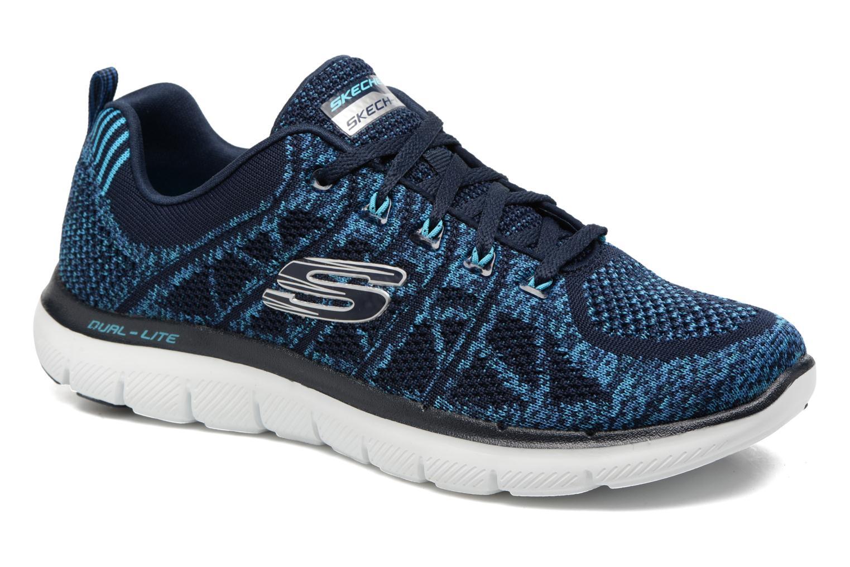 Sportschoenen Skechers Flex Appeal 2.0 New Gem Blauw detail