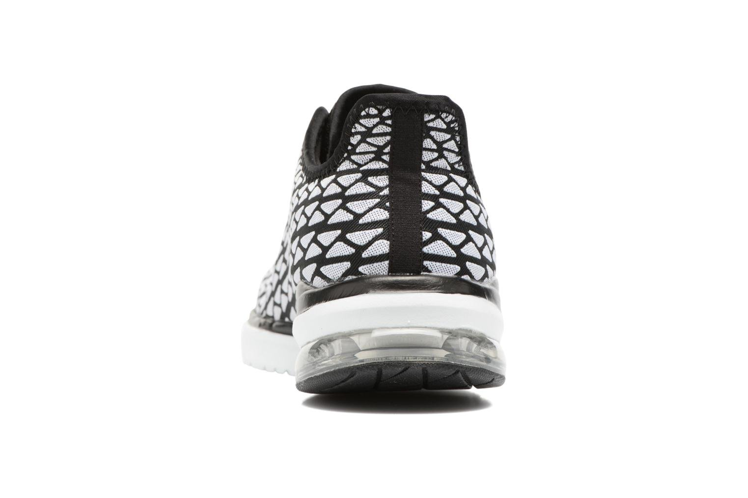 Sport shoes Skechers Skech-Air infinity Free fallin Black view from the right