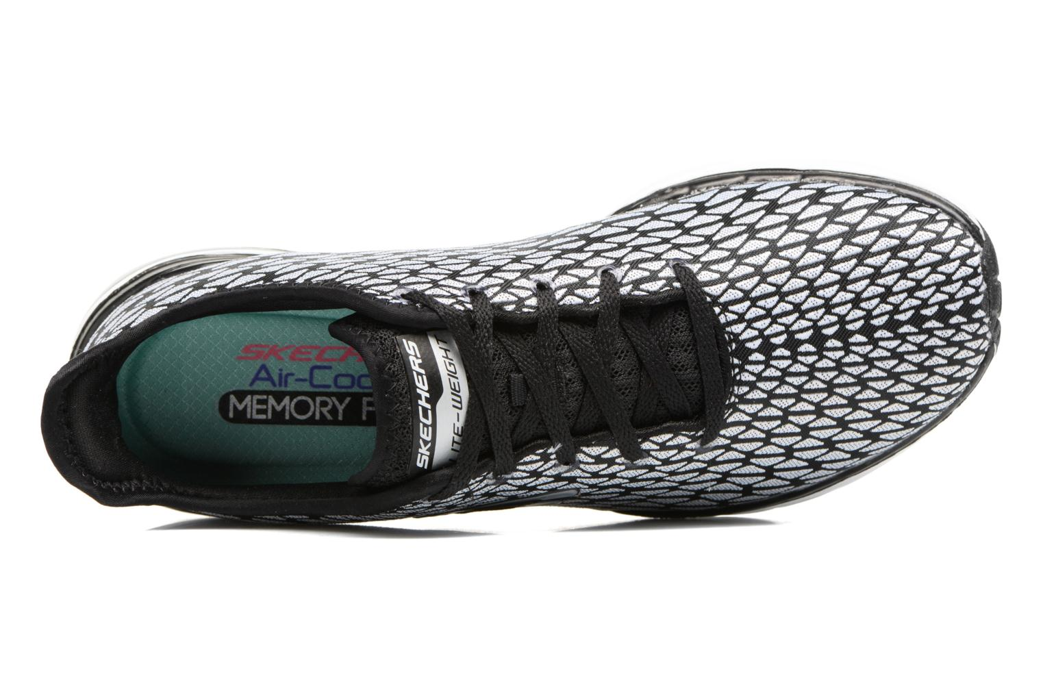 Sport shoes Skechers Skech-Air infinity Free fallin Black view from the left