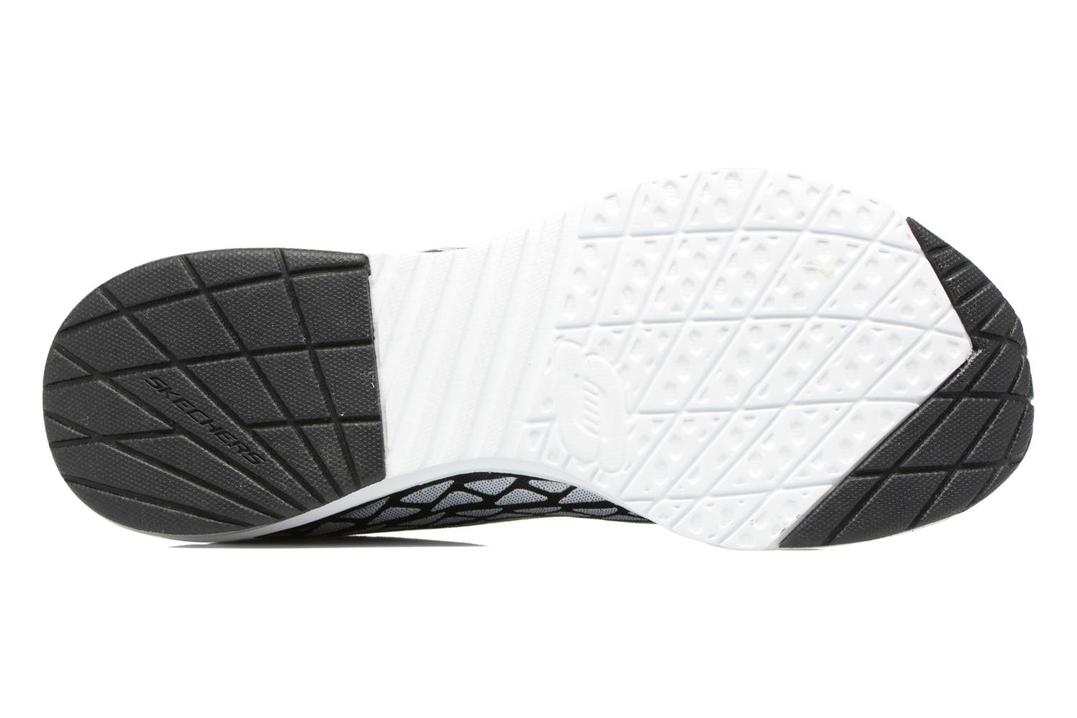 Sport shoes Skechers Skech-Air infinity Free fallin Black view from above