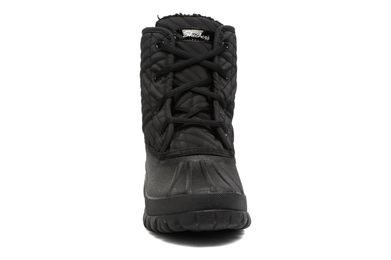 Sportschuhe Skechers Windom dry spell schwarz schuhe getragen