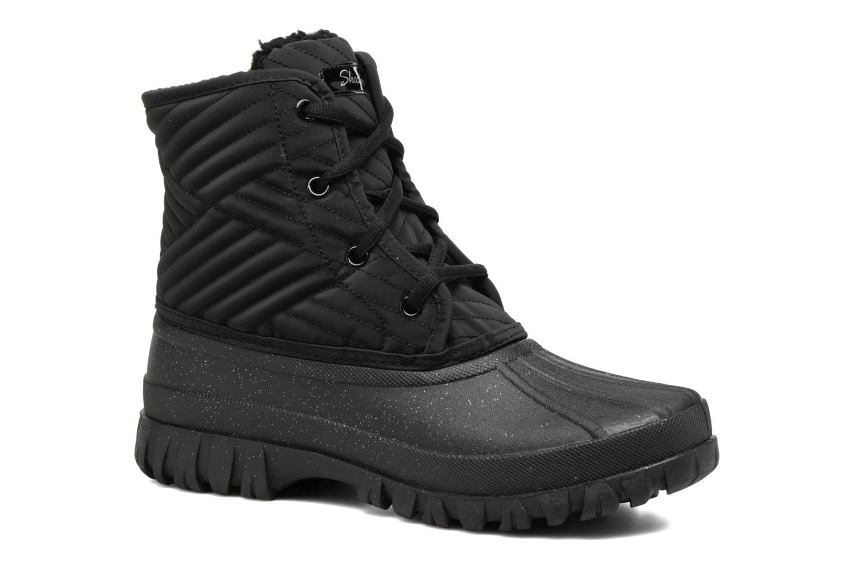 Sportssko Skechers Windom dry spell Sort detaljeret billede af skoene