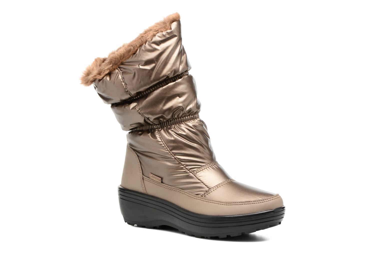 Sportssko Skechers Alaska Abyss Guld og bronze detaljeret billede af skoene